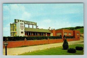 Bedford, PA- Pennsylvania, Ed's Steak House, Advertising, Chrome Postcard