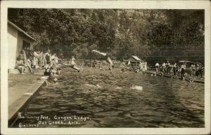 Oak Creek AZ Swimming Pool Canyon Lodge Real Photo Postcard