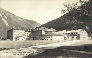 Franconia Notch White Mountains NH Profile House c1920 Real Photo Postcard