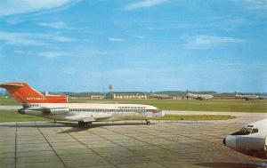 Pittsburgh~Airport~Northwest Jet~Checkerboard Water Tower~Airplane Hangar~1960s
