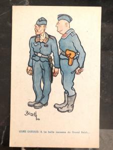 Mint Belgium Picture Postcard WW2 The Reich Beautiful Manhood