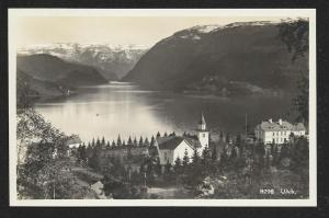 Ulvik Town & Fjord Norway RPPC unused c1920's