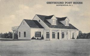 Hopkinton Rhode Island~Greyhound Bus Stop Post House~Roadside Diner~1940s PC