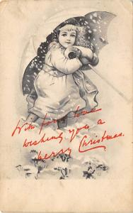 Christmas Post Card Old Vintage Antique Xmas Postcard 1904