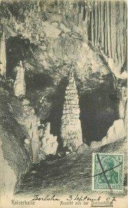 Artist impression Cave interior C-1910 Kaiserhalle Germany Postcard 20-6140