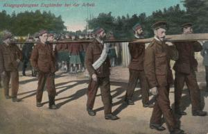 Kriegsgefangen (POWs) Englander bei der Arbeit , War 1914-18