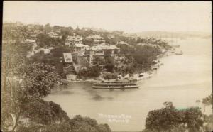 Mosman Bay Sydney Australia c1915 Real Photo Postcard jrf