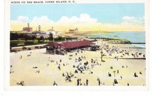 CONEY ISLAND UNCOMMON SCENE ON THE BEACH, NEW YORK CITY, BROOKLYN, NYC