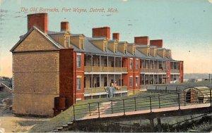 The Old Barracks at Fort Wayne Detroit, Michugan, USA Military 1911