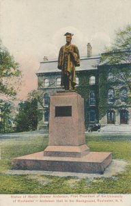 Statue of Martin Anderson First President of University of Rochester NY New York