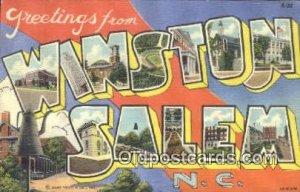 Winston Salem, NC, USA Large Letter Town Unused