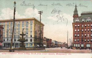 Alabama Montgomery Commerce Street Looking North From Court Square 1907