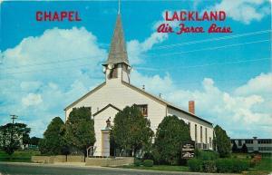 San Antonio Texas~Chapel at Lackland Air Force Base~1963 From Ron Goofoff