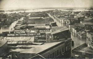 mexico, TAMPICO, El Cascajal Inundado, Hurricane (1933) RPPC