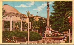 Florida Jacksonville Hemming Park and Monument Dexter Press