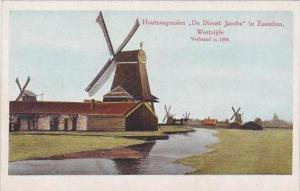 Netherlands Zaandam Houtzaagmolen Windmill