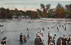 Missouri St Louis Swimming Pool Fair Grounds Park 1914