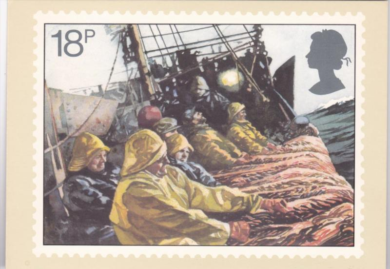 Stamps Of Great Britain Fishing Hauling Side Trawl Issued 23 September 1981
