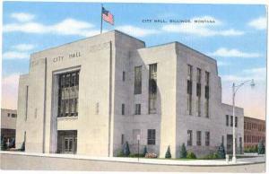 City Hall, Billings, Montana, MT, Linen