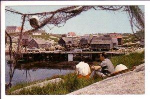 People Setting, Peggy's Cove, Nova Scotia, Canada