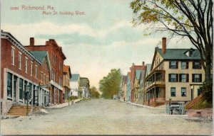 Richmond Maine~Main Street~Department Store~HW Theobald Millinery~Stable~c1910