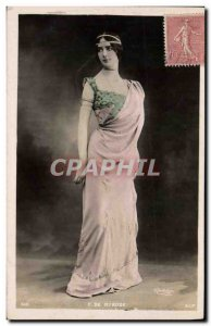 Postcard Old Woman Theater Cleo de Merode