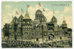 Corn Palace Mitchell South Dakota 1909 postcard