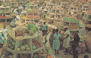 Interior of the Montego Bay Market Jamaica West Indies Postcard