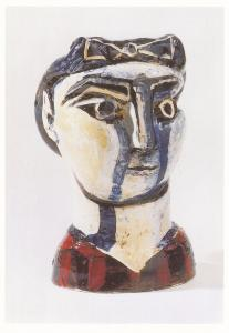 Pablo Picasso Head Of A Woman With Bow Sculpture Tate Gallery Painting Postcard