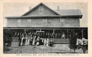 Pottersdale Pennsylvania Gun Club House McGonigal Rd Antique Postcard K81467