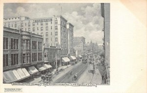 South Spring Street Scene, Angelus Hotel, Los Angeles, CA c1907 Vintage Postcard
