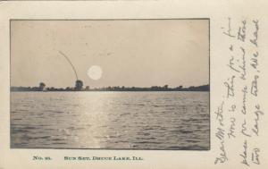 RP; DRUCE LAKE , Illinois , PU-1908 ; Sun Set