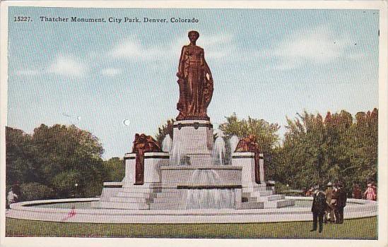 Colorado Denver Thatcher Monument City Park