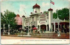 1910s SCRANTON, PA Postcard LUNA PARK Edisonia, Temple of Mystery, Scenitorium