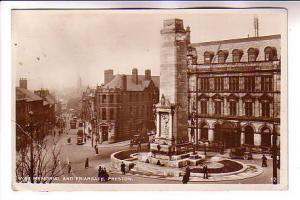 Real Photo, War Memorial and Frairgate, Preston, England