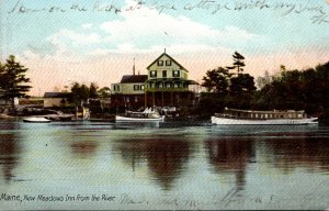 Maine New Meadows Inn From River 1906