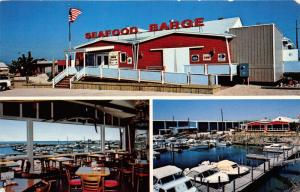 Southold New York~Armando's Seafood Barge~Peconic Bay~3 Views~1960s Pc