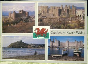 Wales Castles of North Wales Harlech Conwy Criccieth Caernarfon - posted