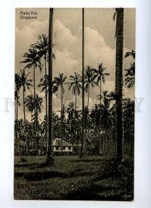 191399 SINGAPORE Malay hut Vintage postcard