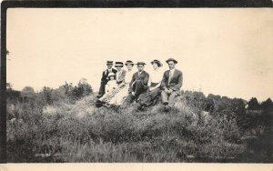 F85/ Fort Thomas Kentucky RPPC Postcard 1914 Well-Dressed People