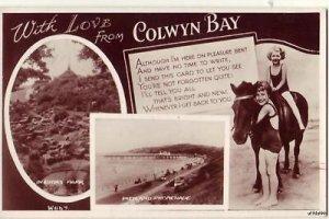 WITH LOVE EIRIAS PARK COLWYN BAY, WALES, UK 1948