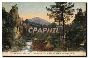 Postcard Old Esterel near Agay Obelisk Evil Infernet and Roc de l'Eveque