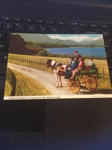 Vintage Postcard: Traditional Jaunting Car, Killarney, Ireland