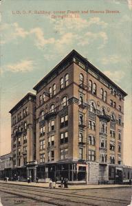 SPRINGFIELD, Illinois, PU-1916; I.O.O.F. Building, Corner Fourth And Moroe St...