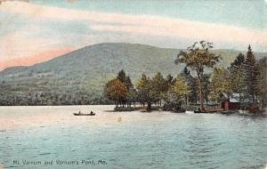 Varnums Pond Maine Mountain Waterfront Antique Postcard K65947