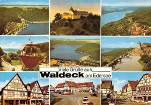 Viele Gruesse aus Waldeck am Edersee, Cable Car Lake Castle Panorama Chateau