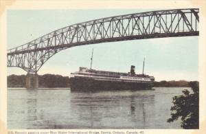 S.S. NORONIC , Blue Water International Bridge, SARNIA , Ontario , Canada , 3...