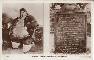 Daniel Lambert Guiness Book Of Records Fattest Man Stamford Real Photo Postcard