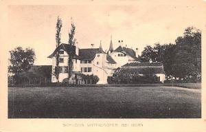 Switzerland Old Vintage Antique Post Card Schloss Wittigkofen Bei Bern Writin...