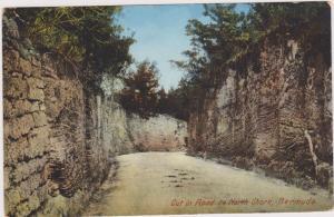 Cut in Road to North Shore, Bermuda, PU-1911